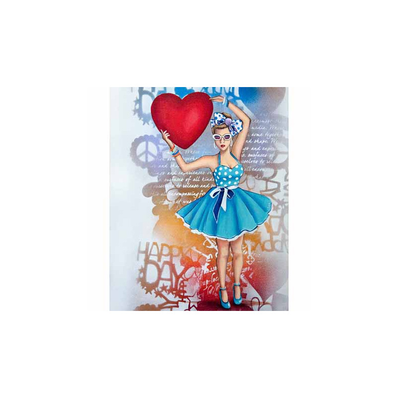 GK2430079 - 24x30 - PIN UP AU COEUR