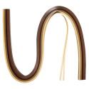 Papier pour Quilling, Tons bruns , 50x0,3cm