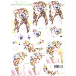 FEUILLE 3D ETAPE - Coeurs de roses