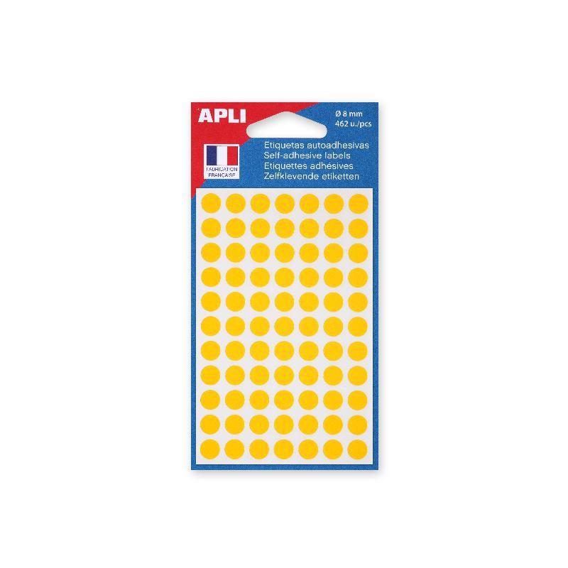 gomettes AGIPA étiquettes autocollantes orange // adhésives 8mm