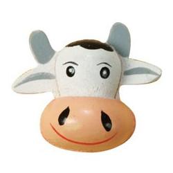 8 tetes de vache en volume 25x35 mm