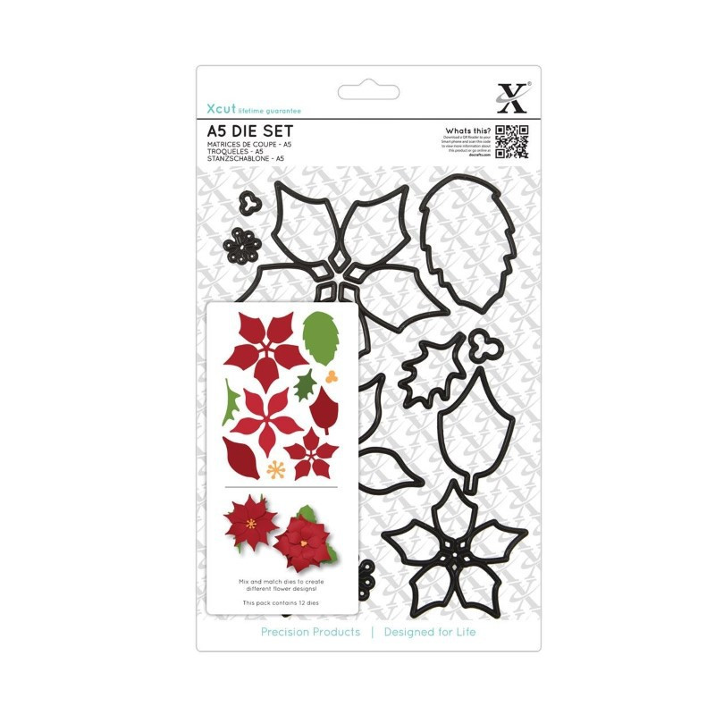 A5 Jeu De Matrices De Coupe (12pcs) - Poinsettia