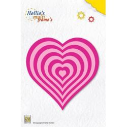 10 Dies cadres coeur basique  10x9 cm