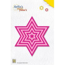 9 Dies cadres étoile basique  9,5x11 cm