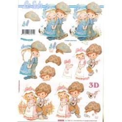 Carte 3D à découper -  enfants - 416936