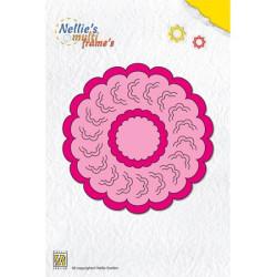 5 Dies matrice de coupe cadres cercles 2 décoratifs 10 cm