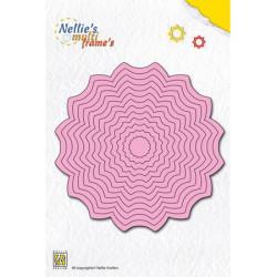 13 Dies matrices de coupe cadres rosaces 10,5 cm