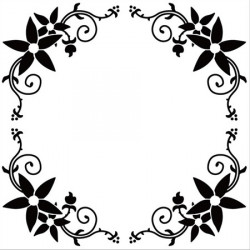 Classeur d'embossage arabesque rond 13x13 cm