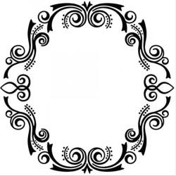 Classeur d'embossage arabesque ovale 13x13 cm