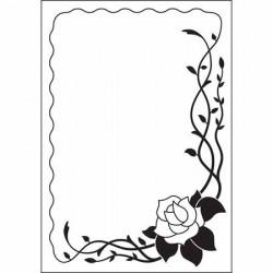 """Classeur d'embossage """"rose d'angle"""" 10,6x15 cm"""