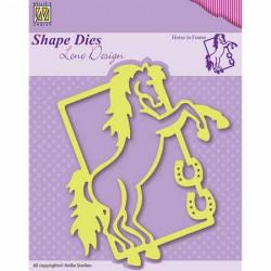 """Dies """"cheval cabré"""" 11x9.5 cm"""