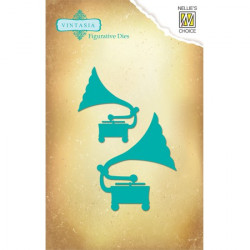 2 Dies Gramophone 6x8 cm