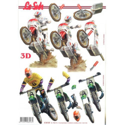Carte 3D à découper - motos...
