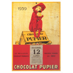 CARTE 15X21 CHOCOLAT PUPIER N°722