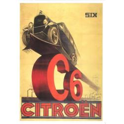 CARTE 15X21 CITROEN C6 N°735