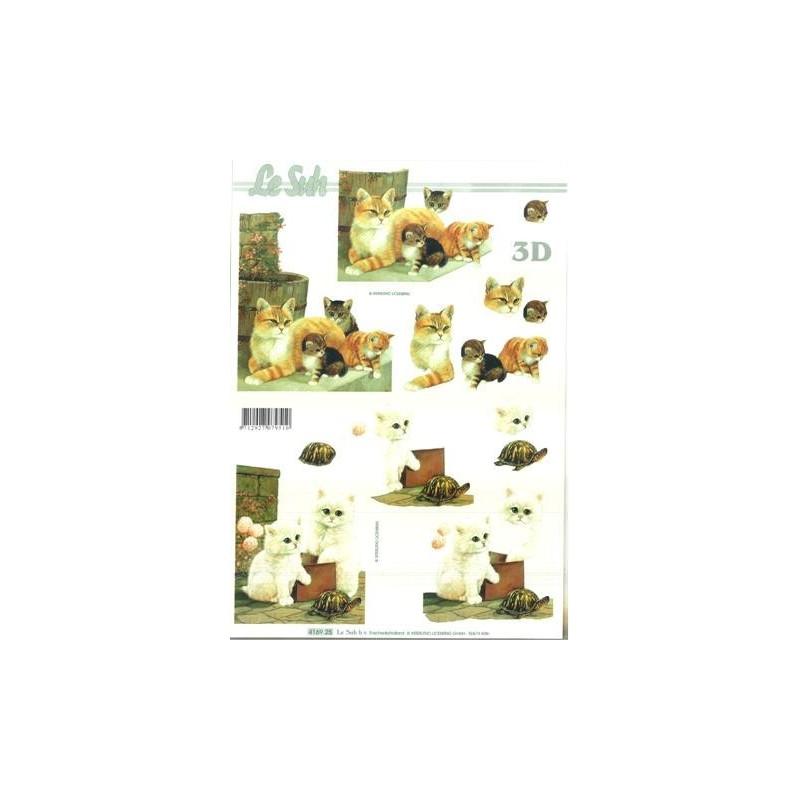 Carte 3D à découper - chats - 416925