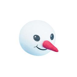 Tête en ouate: bonhomme de neige, 40 mm