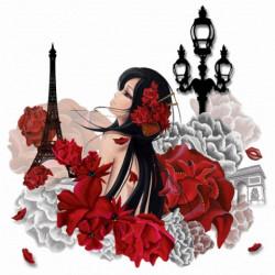Image pour tableaux 3D GK4040003 Lilou à Paris 40x40 cm