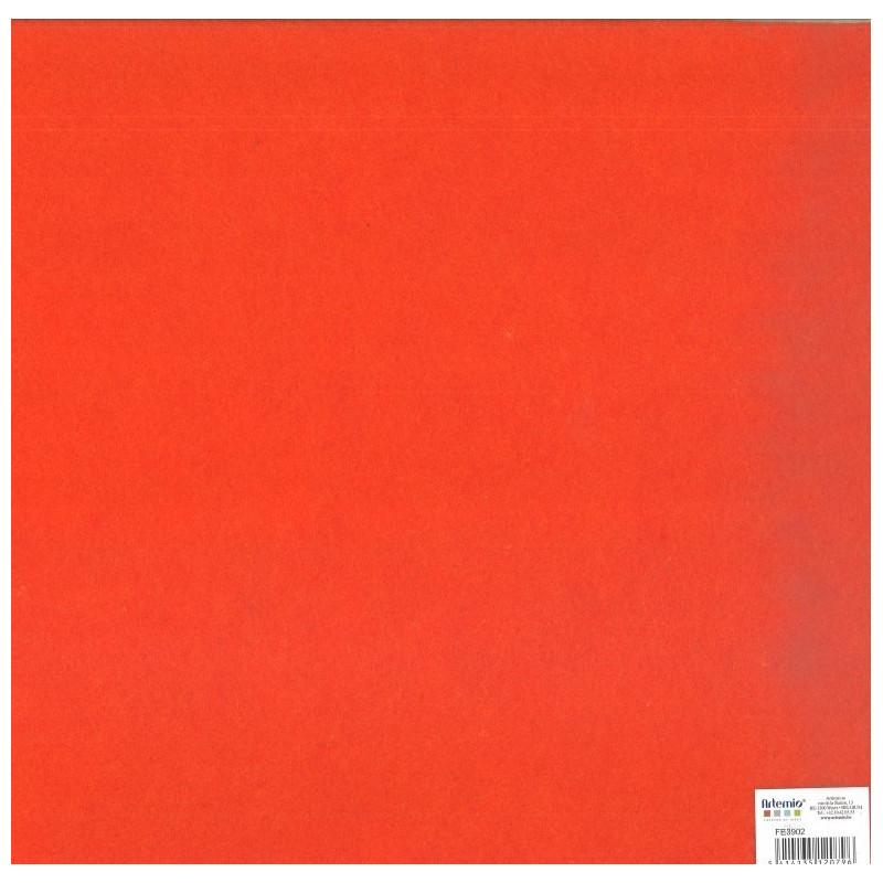 Feuillefeutrine30x30cm 2mm orange