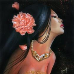 Image pour tableaux 3D format 30x30 cm  Femme cancer GK3030048