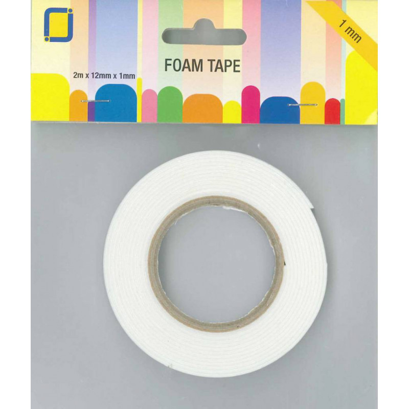 ROULEAU MOUSSE ADHESIVE 12MM X 1 MM X 2M