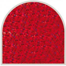 Feuille autocollante 10X23 cm Rouge grosses paillettes