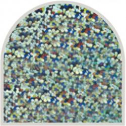 Feuille autocollante 10X23 cm Turquoise grosses paillettes