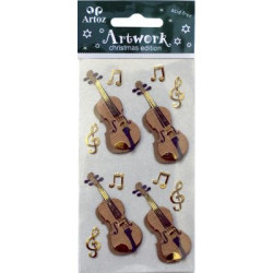 Art-work stickers : violon