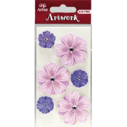 Art-Work: Stickers Fleurette lilas