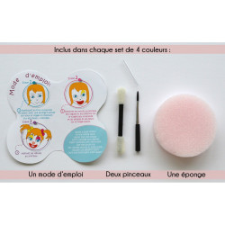 MAQUILLAGE  SET COMPLET 4 COULEURS - FÉE PAPILLON