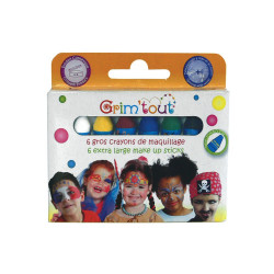 MAQUILLAGE BOÎTE 6 GROS CRAYONS JUMBO