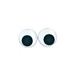Yeux plastiques avec pupille mobile, 10mmø, Sachet de 10 pces
