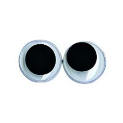 Yeux plastiques avec pupille mobile, 12mmø, Sachet de 10 pces
