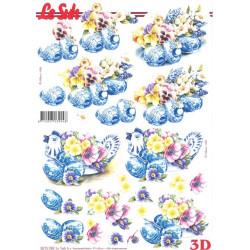 FEUILLE 3D ETAPE - Poules et oeufs déco de Pâques