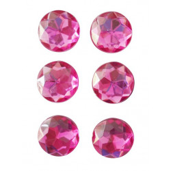 6 MAGNETS FUCHSIA DIAMANT 17mm