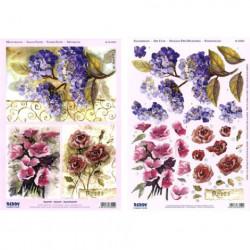 Carterie 3D Prédécoupée A4  - 83550 - Recto/verso 3 bouquets fleurs