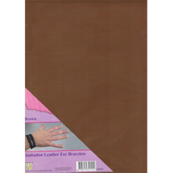 Feuille A4 imitation cuir Marron