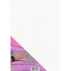 Feuille A4 imitation cuir Blanc