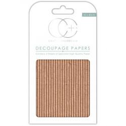 Papier Patch 3 Feuilles 35x40 cm Texture carton ondulé marron
