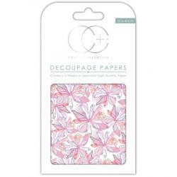 Papier Patch 3 Feuilles 35x40 cm Notes florales roses