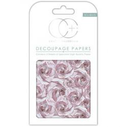 Papier Patch 3 Feuilles 35x40 cm Boutons rose pastel