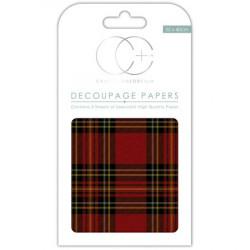Papier Patch 3 Feuilles 35x40 cm Fond écossais