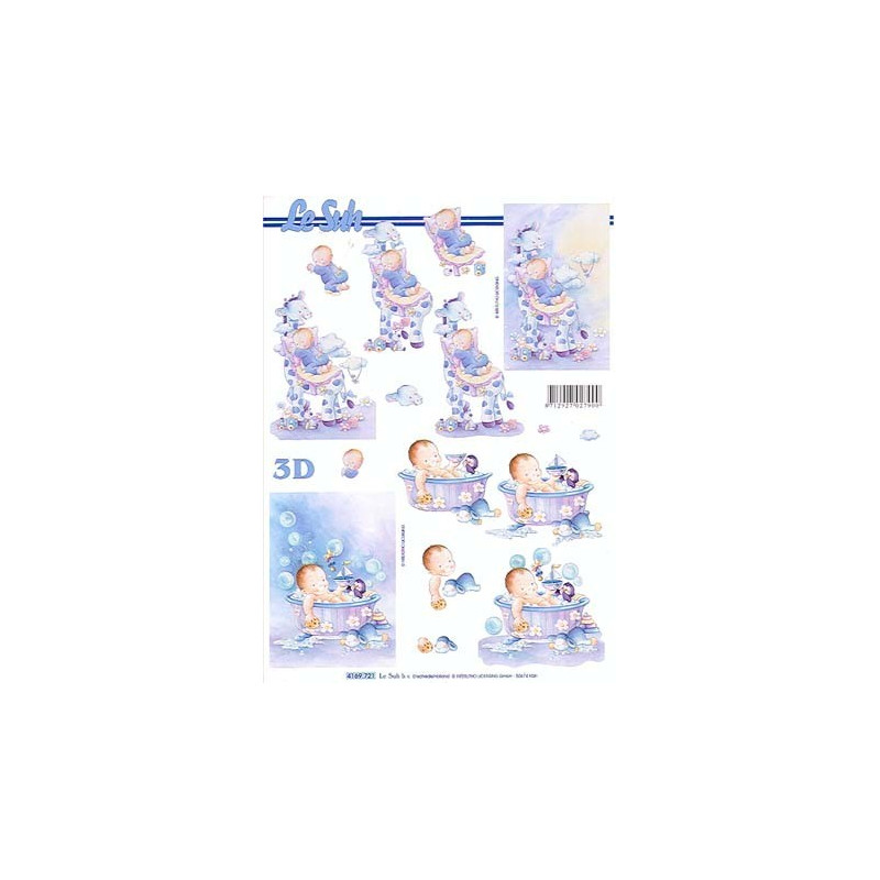 Carte 3d d couper bebe girafe bleu aux bleuets - Carte etape bebe a imprimer ...