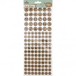 Sticker en liège Alphabet, rond