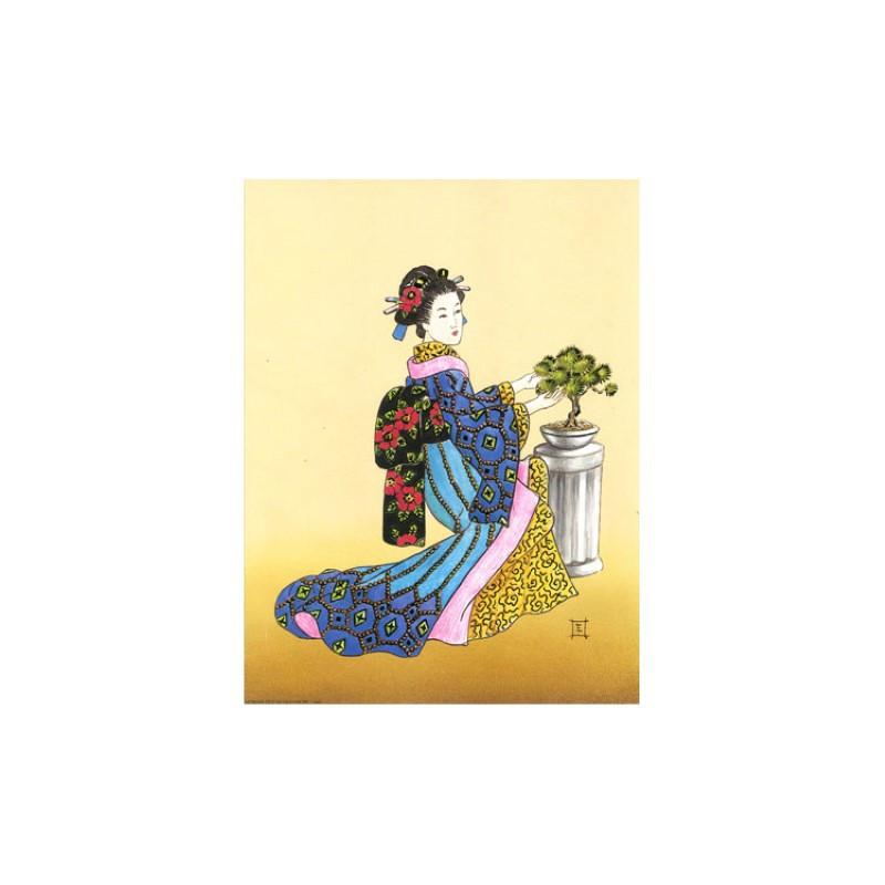 Image 3D - OR 73 - 24X30 - Chinoise avec bonzai - Aux Bleuets Loisirs créatifs à Reims
