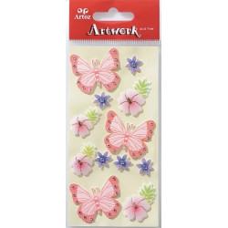 Art-Work: Stickers Papillons et fleurs