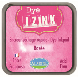 ENCREUR IZINK DYE ROSE ROSEE  7x7 cm