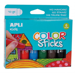 COLOR STICKS GOUACHE SOLIDE 6 COULEURS