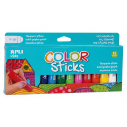 COLOR STICKS GOUACHE SOLIDE 12 COULEURS