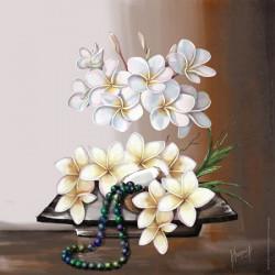 Image pour tableaux 3D GK3030059 - 30X30 - Fleurs de coco